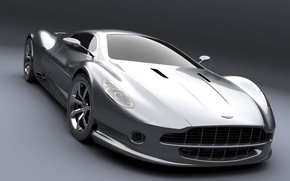 Wallpaper silver, the concept, Aston Martin