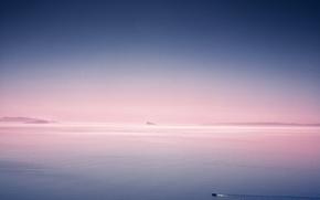 Picture sea, Islands, dawn, morning, boat