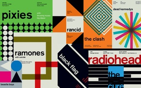 Picture music, radiohead, poster, punk, the cure, black flag, artists, punk rock, concert, rancid, the clash, …