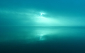 Picture the sun, green, reflection, Water