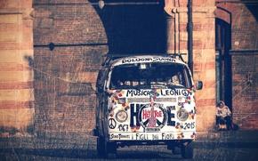 Picture music, Volkswagen, art, Volkswagen Transporter