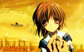Picture eyes, hands, Clannad, Clannad, Nagisa Furukawa