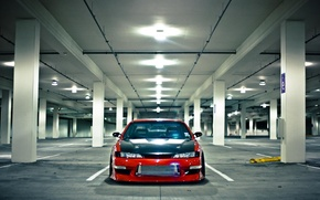 Picture Machine, Parking, red, Silvia, Nissan, Nissan, Tuning, Sylvia, S14, JDM