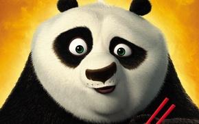 Wallpaper cartoon, Panda, Kung fu