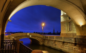 Picture Saint Petersburg, The Hermitage, Winter canal