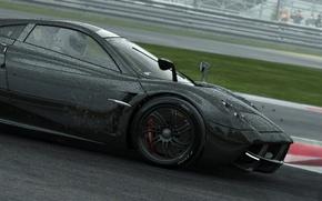 Picture rain, race, black, car