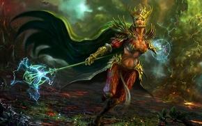 Picture Fantasy, magic, art, women, Witch