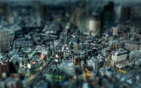 Wallpaper Home, Tilt-shift, The city, Street, Building, Megapolis