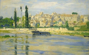 Picture Claude Monet, picture, home, landscape, river, the city
