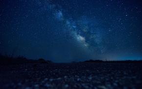 Picture night, stars, horizon