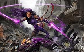 Picture cinema, battlefield, girl, sword, blood, robot, mecha, X-Men, woman, katana, fight, movie, ken, hero, film, …
