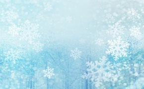 Picture snowflakes, new year