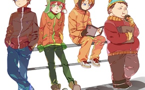 Picture anime, art, donut, journal, south park, boys, kenny mccormick, eric theodore cartman, newrein, kyle broflovski, …