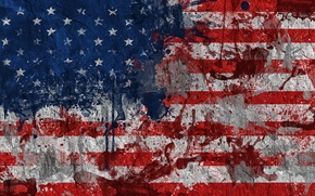 Picture paint, flag, USA, USA, flag, United States Of America