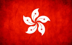Picture Hong Kong, flag, texture