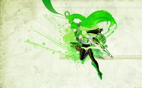 Picture girl, anime, vocaloid, hatsune miku, Vocaloid