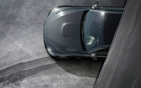 Picture BMW, Car, Black, Coupe, Matte, Wheels, Ligth, Top View