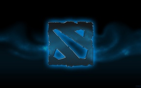 Picture background, stone, logo, logo, dota 2