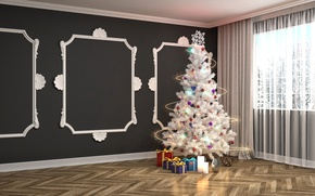 Picture New Year, Room, Tree, Holidays, Gifts, Garland