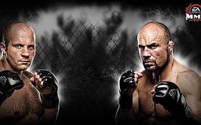 Picture Fedor Emelianenko, fights without rules, Randy Couture, Fedor Emelianenko, fights, Randy Couture, EA Sports MMA
