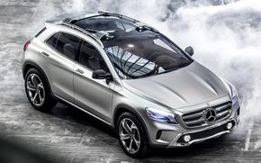 Picture auto, Concept, lights, Mercedes-Benz, silver, Mercedes, GLA