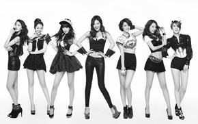 Picture music, girls, Asian girls, South Korea, K-pop, RainBow