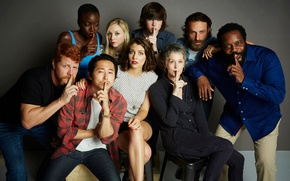 Picture actors, The Walking Dead, the sign of silence, Walking