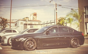 Picture BMW, black, drives, F30