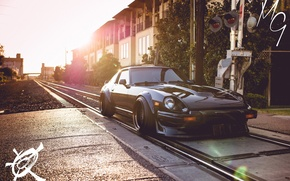 Picture nissan, black, japan, jdm, tuning, train, low, datsun, fairlady z