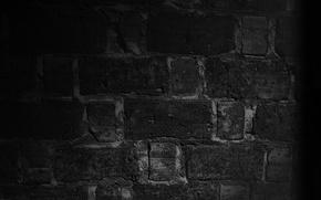 Picture macro, night, wall, black, bricks