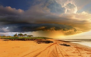 Picture beach, the sky, clouds, clouds, Australia, tropical storm