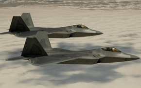Picture Sand, Photo, Desert, Flight, Fighter, Height, Raptor, F-22, Raptor, Multipurpose, Lockheed/Boeing