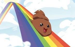 Picture joy, rainbow, turd