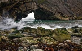 Picture rock, stones, the ocean