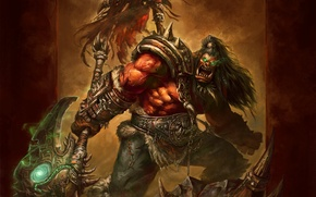 Picture warrior, Orc, wow, Grom Hellscream, Grom Hellscream, world of wacraft