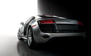 Picture sports car, Audi R8, silver