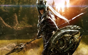 Picture armor, forests, Skyrim, Elven Soldier