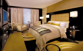 Picture carpet, lamp, bed, interior, chair, pillow, bedroom