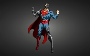 Picture metal, robot, Superman, cyborg, Creek, comic, Superman
