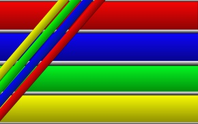 Picture strip, colored, horizontal, inclined