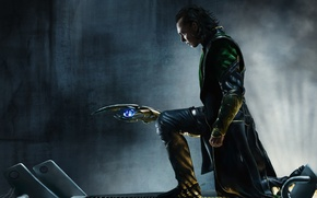 Picture metal, grille, art, male, rod, the Avengers, loki