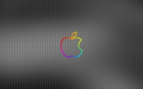 Wallpaper Logo, metal, apple, point, background