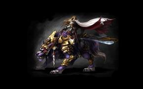 Picture warrior, rider, MMORPGБ Online games, Myth War
