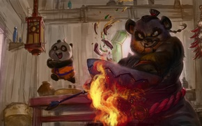 Picture art, World of Warcraft, Pandaren, father and son