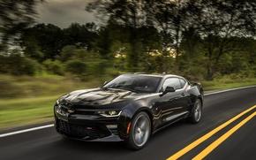 Picture road, speed, Chevrolet Camaro