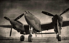 Picture aviation, the plane, Lockheed P38