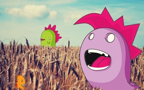 Picture field, collage, vector, monsters, ears, reckdesigns