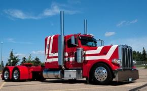 Picture truck, peterbilt, 389