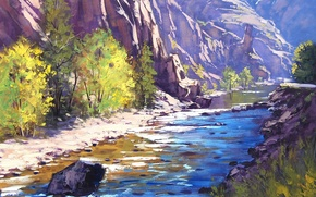 Wallpaper ART, FIGURE, ARTSAUS, COLORADO RIVER