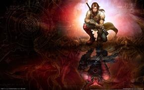 Wallpaper warrior, magic, fantasy, fable 2, reflection